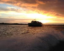 Princess Caroline, Southampton's party boat sailing into the sunset