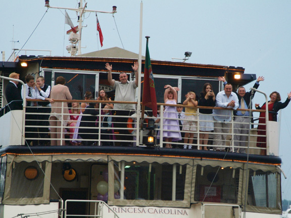Princess Caroline - setting off with a party on board.